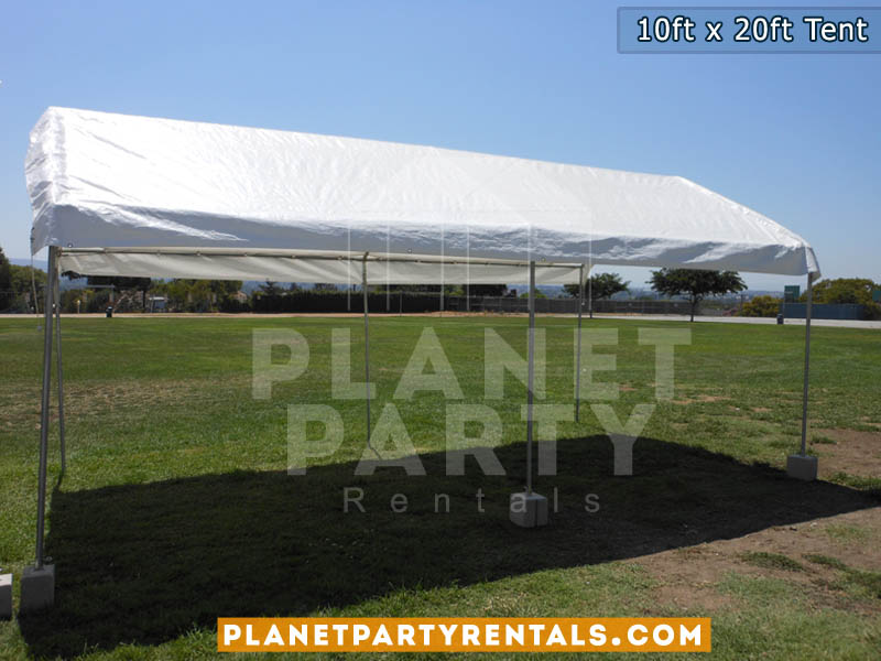 10x20 White Party Tent Rentals | Tent Packages Available for Rent | San Fernando Valley