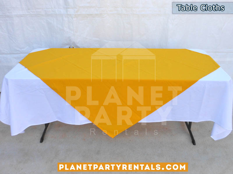 Rectangular Table Cloths | Colors | Runners | Linen Rentals