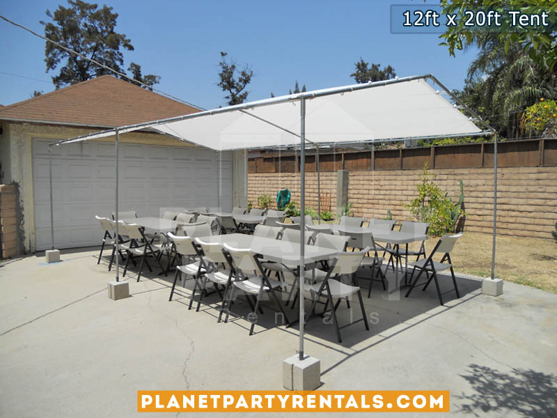 White Party Tent 12ft x 20ft | Pictures | Prices | Ten Packages with Tables and & Tents | PartyRetanls Canopy Tents Chairs Tables Jumpers PatioHeaters