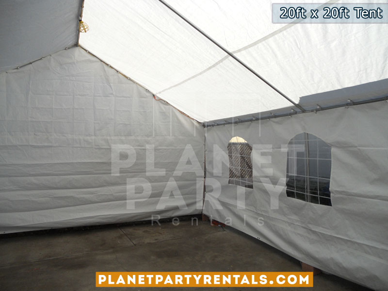 20x20 White Party Tent Rental | Tents and Canopies | Prices | Pictures | San Fernando Valley