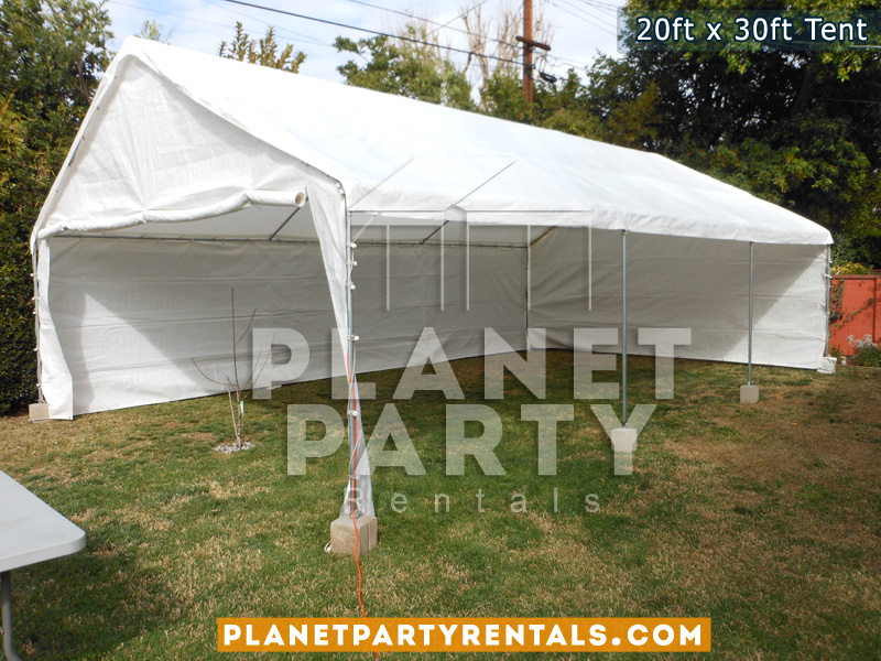 20x30 Tent with sidewalls on grass