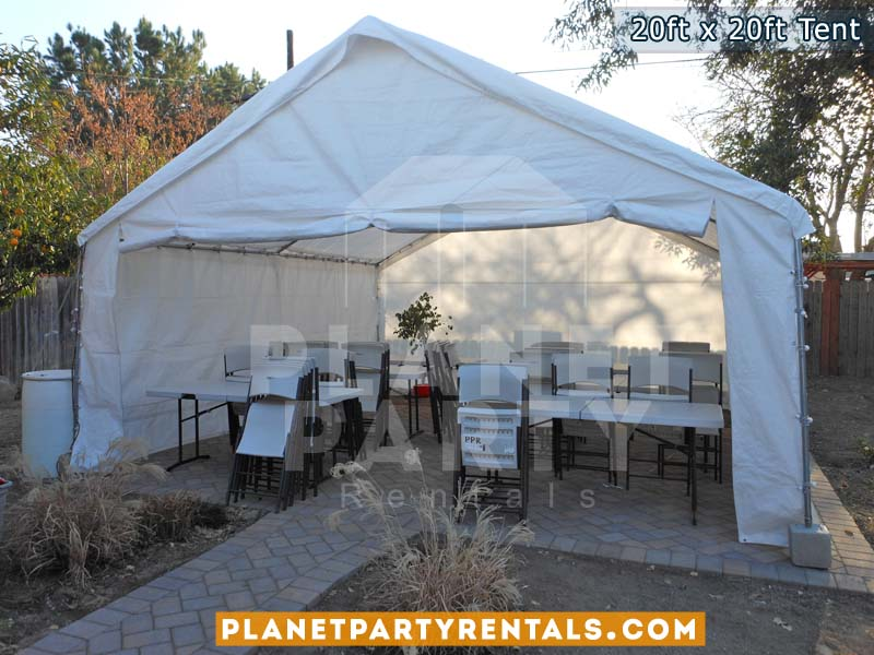 Medium size tents. Tent packages with tables and chairs available