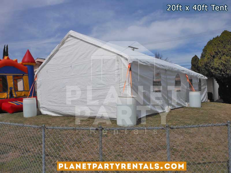 20x40 Tent with window sidewalls on grass