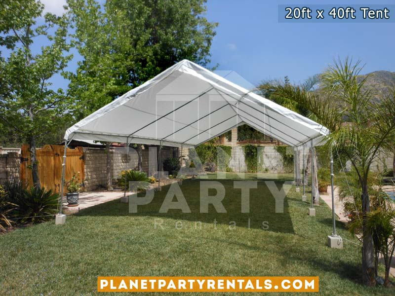Large 20x40 Tent with no sidewalls top only on grass