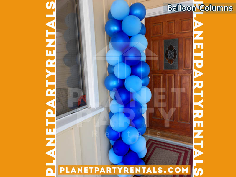 Balloon Column with 2 colors Royal Blue and Light Blue
