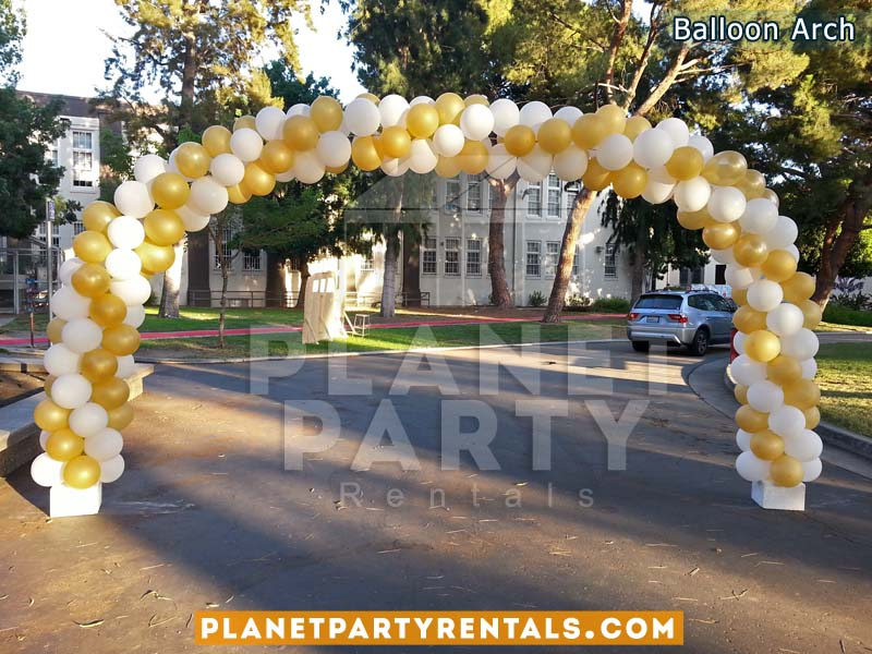 Balloon Arch with 2 Colors White and Gold