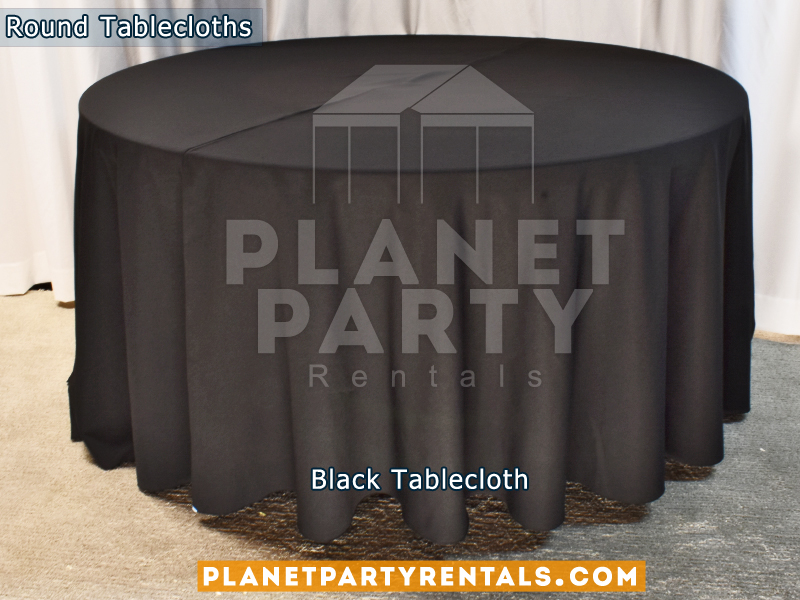 Black Tablecloth for Round Table