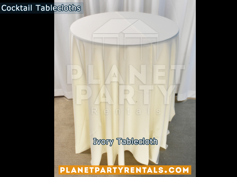 Ivory cocktail tablecloth