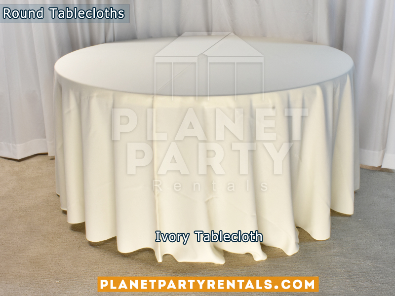 Ivory Tablecloth for Round Table