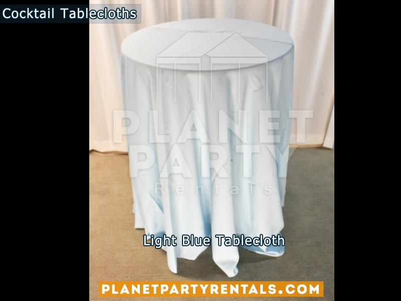 Light Blue cocktail tablecloth