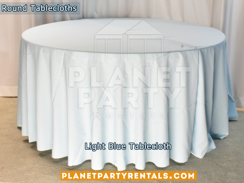 Light Blue Tablecloth for Round Table