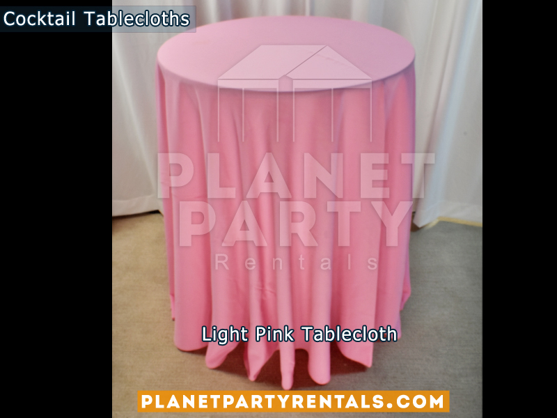 Light Pink cocktail tablecloth