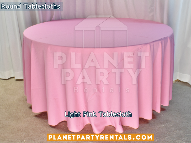 Light Pink Tablecloth for Round Table