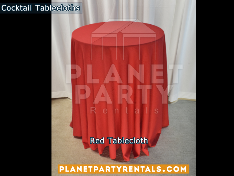 Red cocktail tablecloth