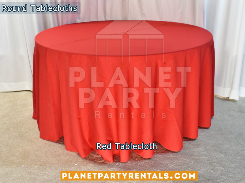 Red Tablecloth for Round Table