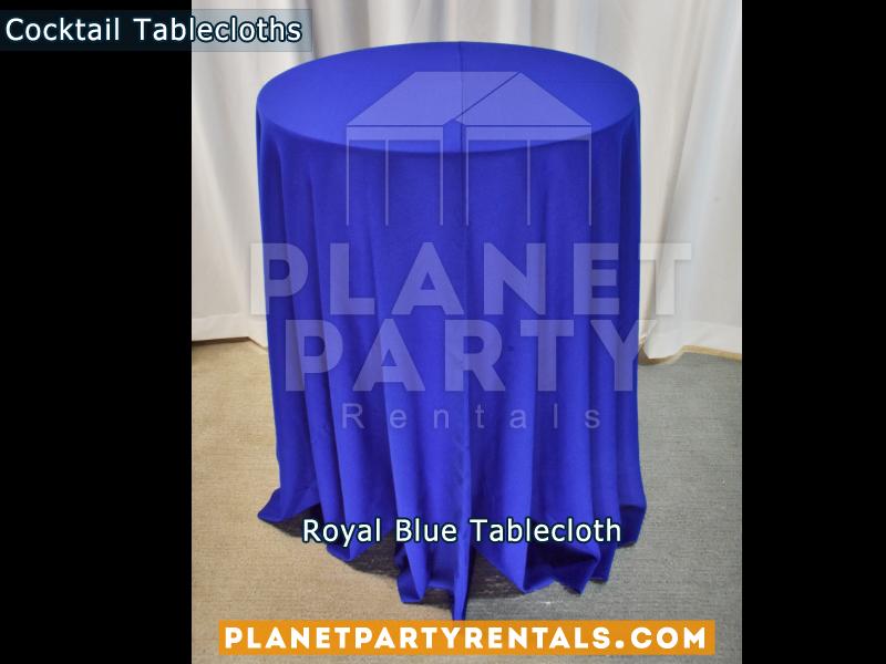 Royal Blue cocktail tablecloth
