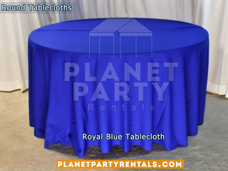 Royal Blue Tablecloth for Round Table