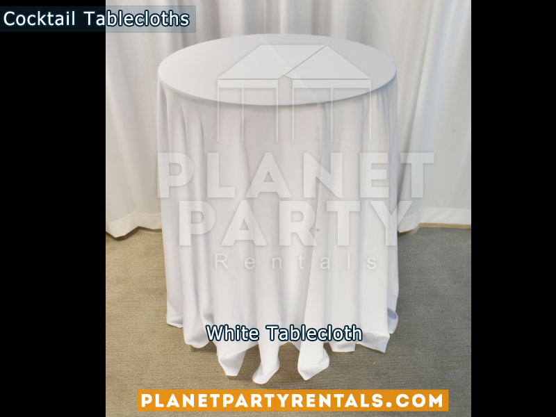 White cocktail tablecloth