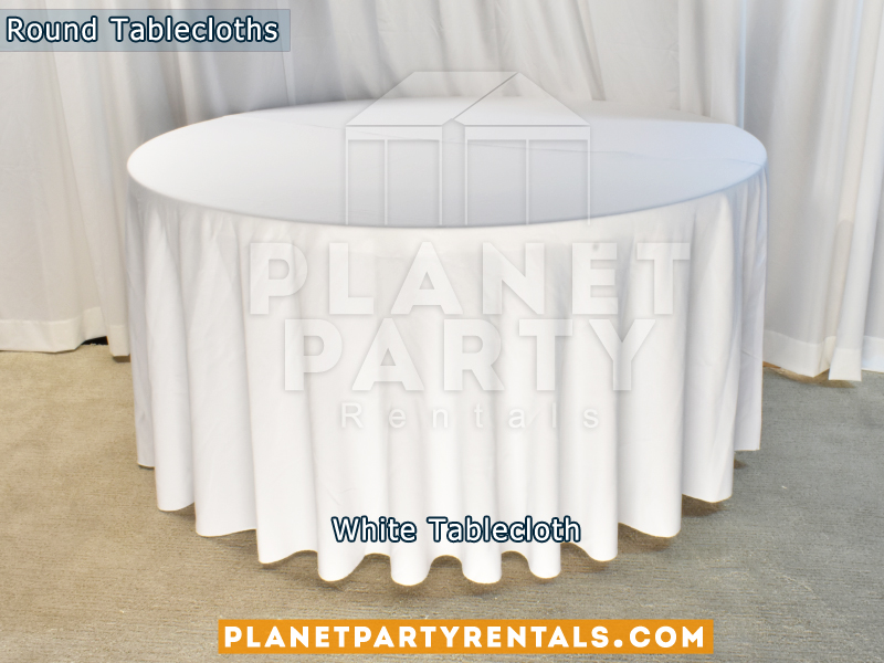 White Tablecloth for Round Table