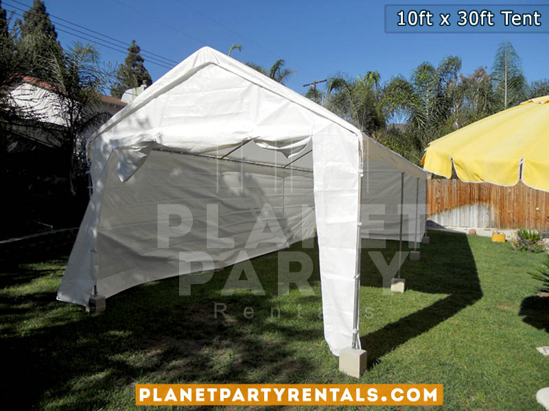 White Party Tent   10ft x 30ft   Tent Packages Available with Tables and Chairs