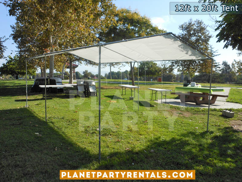 White Party Tent 12ft x 20ft   Pictures   Prices   Ten Packages with Tables and Chairs